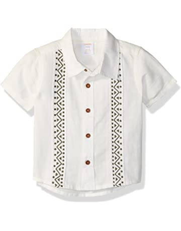 eaba08560 Baby Boy's Button Down Dress Shirts | Amazon.com
