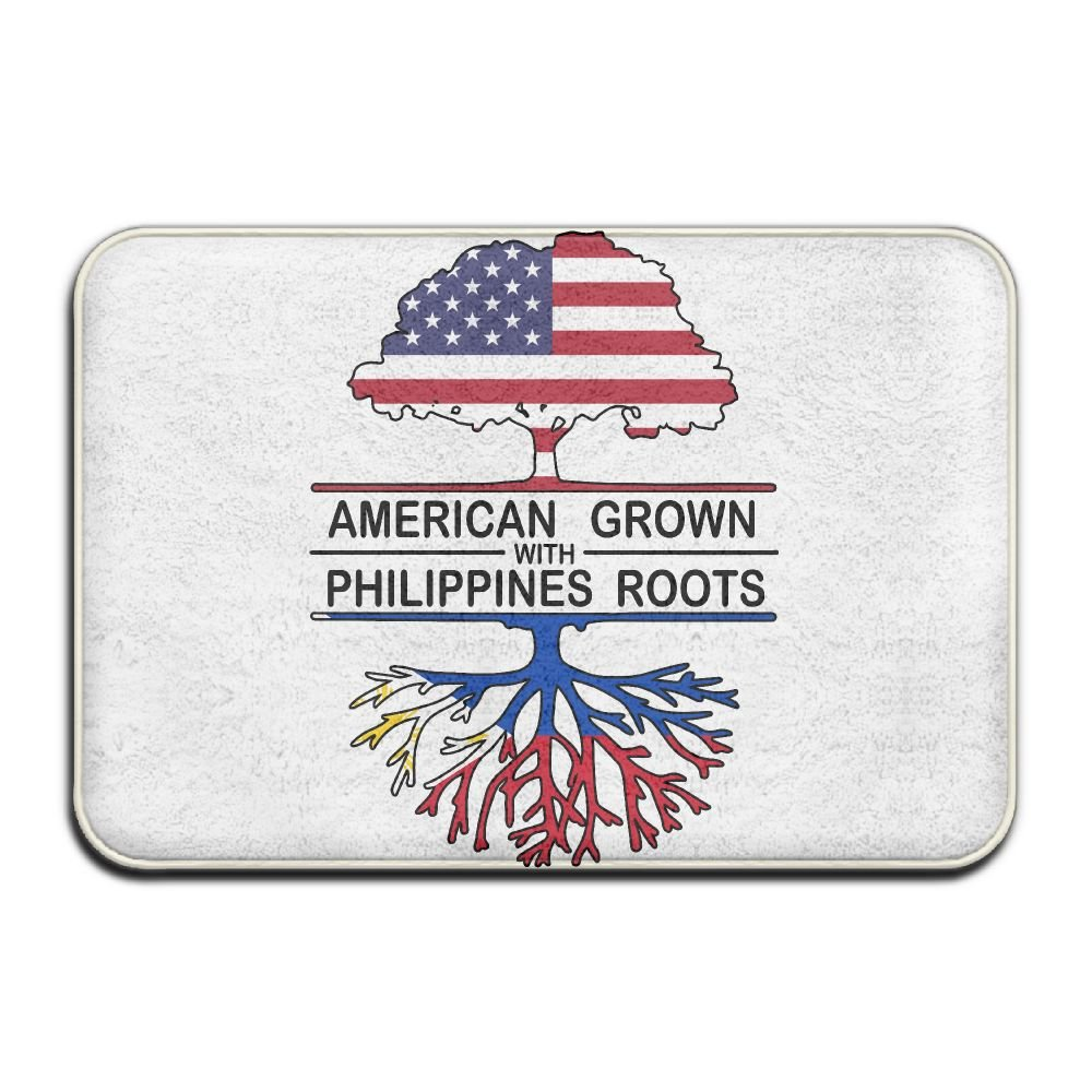American Grown With Philippines Roots Anti-skidding Entrance Doormat Shoe Scraper Rug