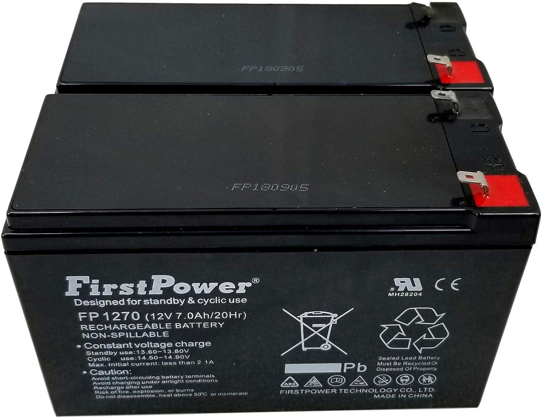 Pack 2 12v 7ah for First Alert ADT Alarm Battery