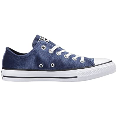 Converse Chuck Taylor All Star Ox Midnight Navy White Womens Velvet Trainers