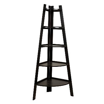 Danya B  Five Tier Corner Ladder Display Bookshelf. Amazon com  Danya B  Five Tier Corner Ladder Display Bookshelf