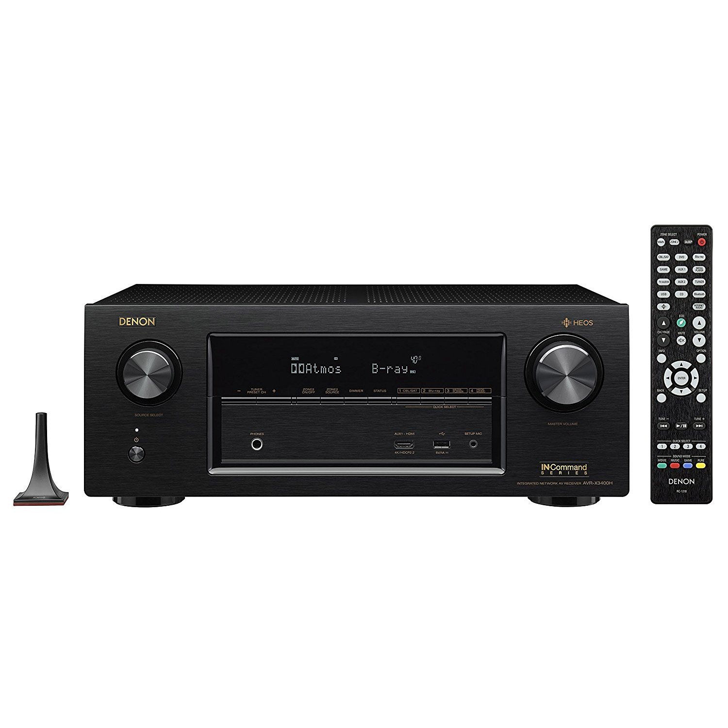 Denon AVR-X3200W 7.2-Channel Full 4K Ultra HD AV Receiver with Bluetooth and Wi-Fi by Denon
