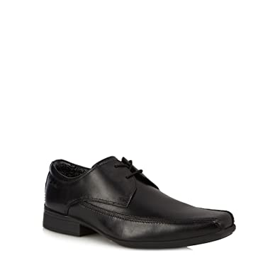 Clarks Black Leather Aze Day Derby Shoes