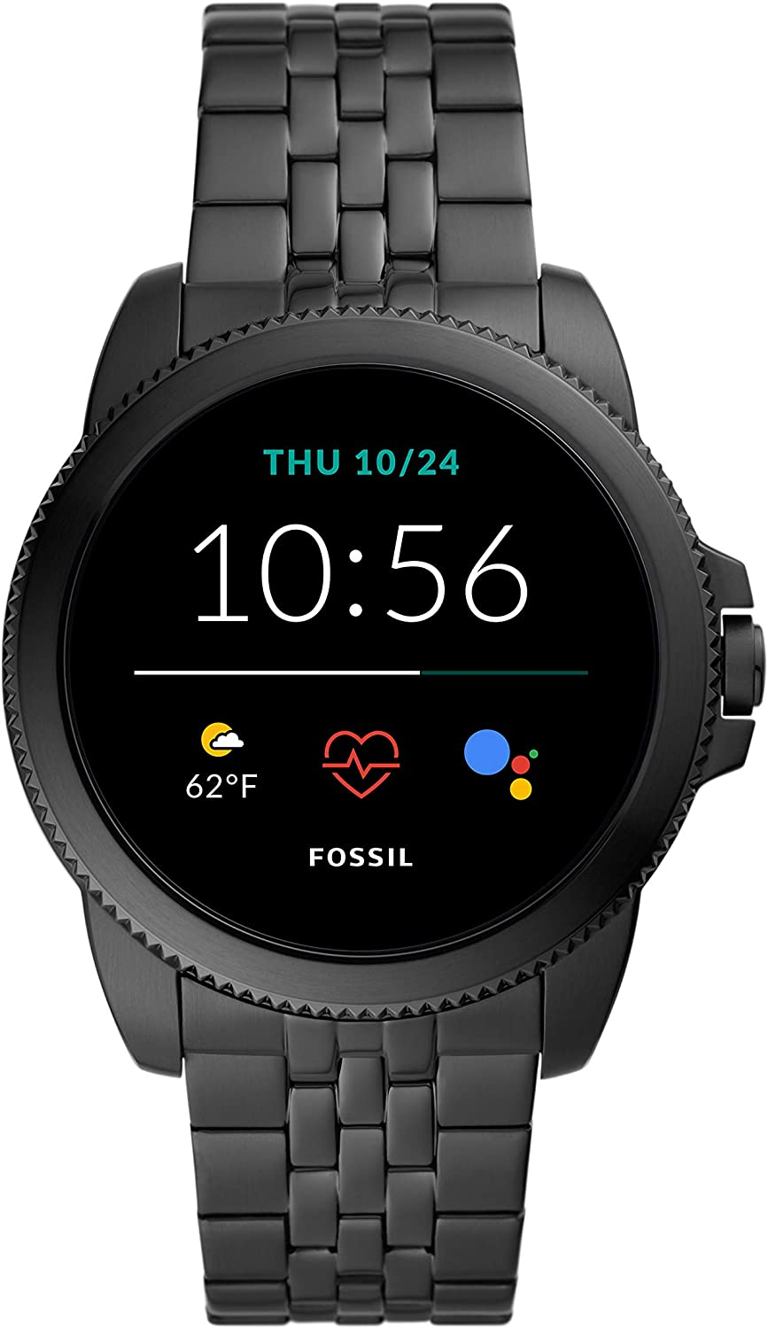 NEW Fossil Men's Gen 5E 44mm Stainless Steel Touchscreen Smartwatch with Speaker, Heart Rate, GPS, NFC, and Smartphone Notifications