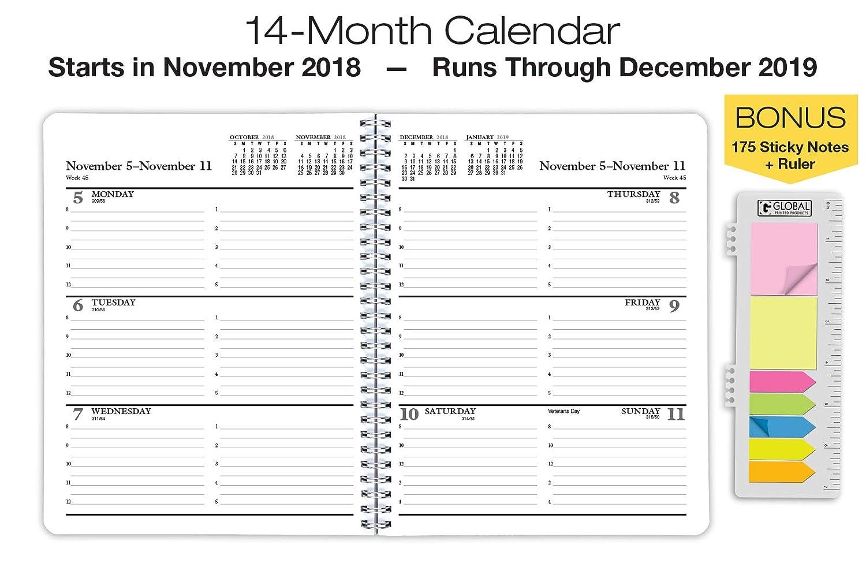 Premium Planner 2019 Calendar Year Planner - 8x10-14 Months (November 2018 Through December 2019)