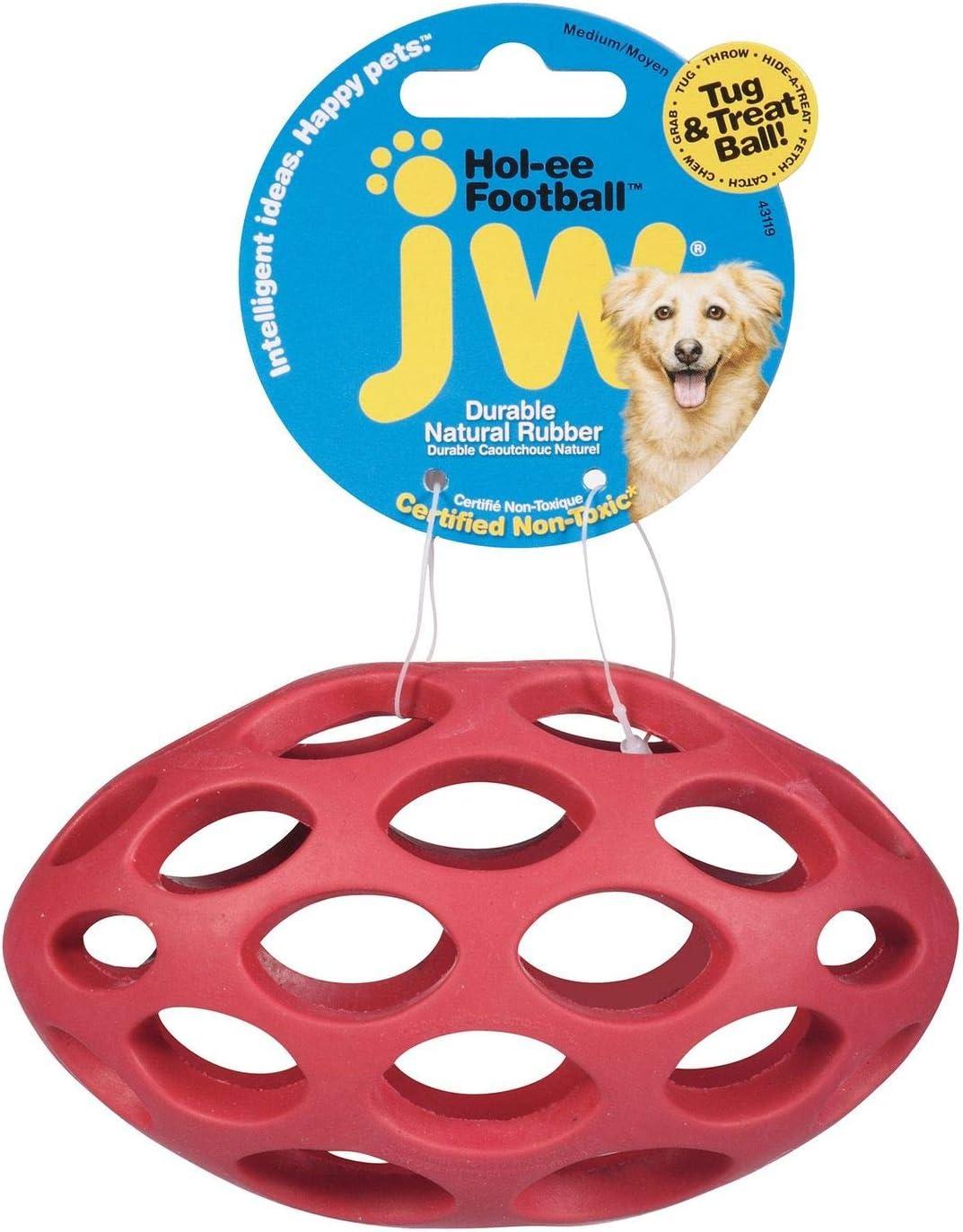 JW Pet Hol-ee Football Dog Chew Puzzle Toy, Medium