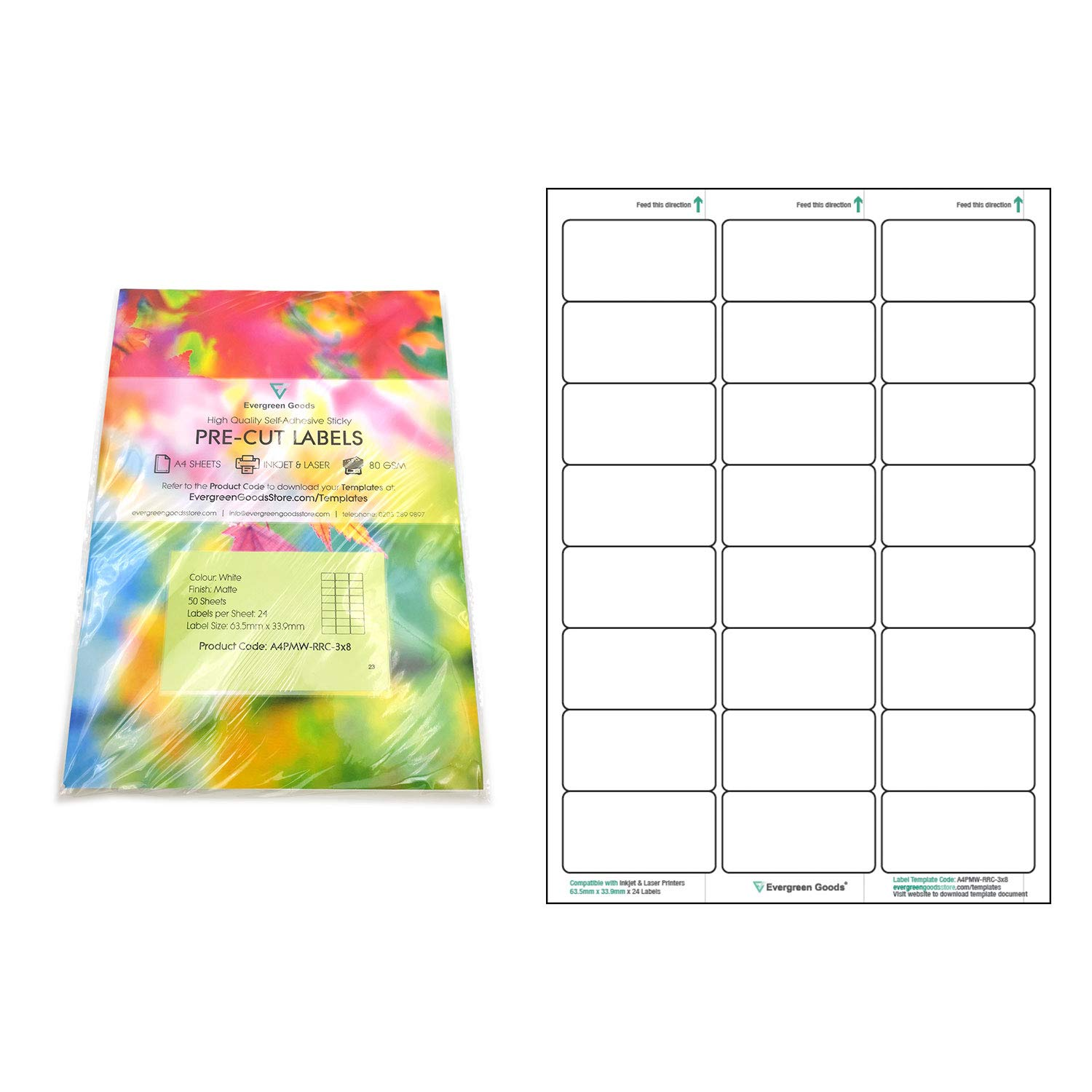 Blank White Self Adhesive Sticky Address Printer Labels Sheets