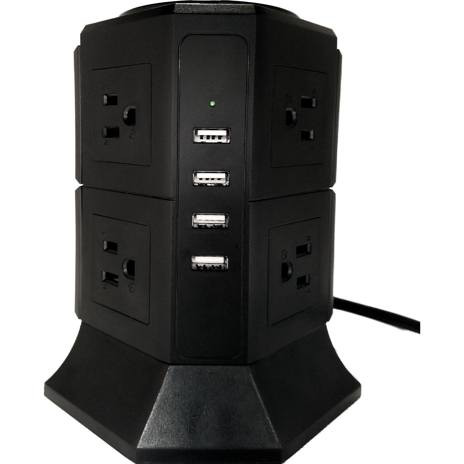 4 USB Ports and 8 Outlets Desktop Power Station, Surge Protector, Power Strip, Power Cord, Commercial Power Strip, Charging Port, for Office, Home, and Multi Use! - by: Prime Home
