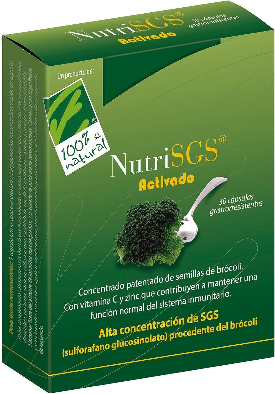 Cien Por Cien Natural Nutrisgs - 30 Cápsulas, 15 g: Amazon.es ...