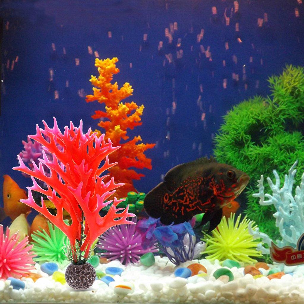 Deboc Artificial Aquarium Bright Color Plant Antler Shape Coral ...