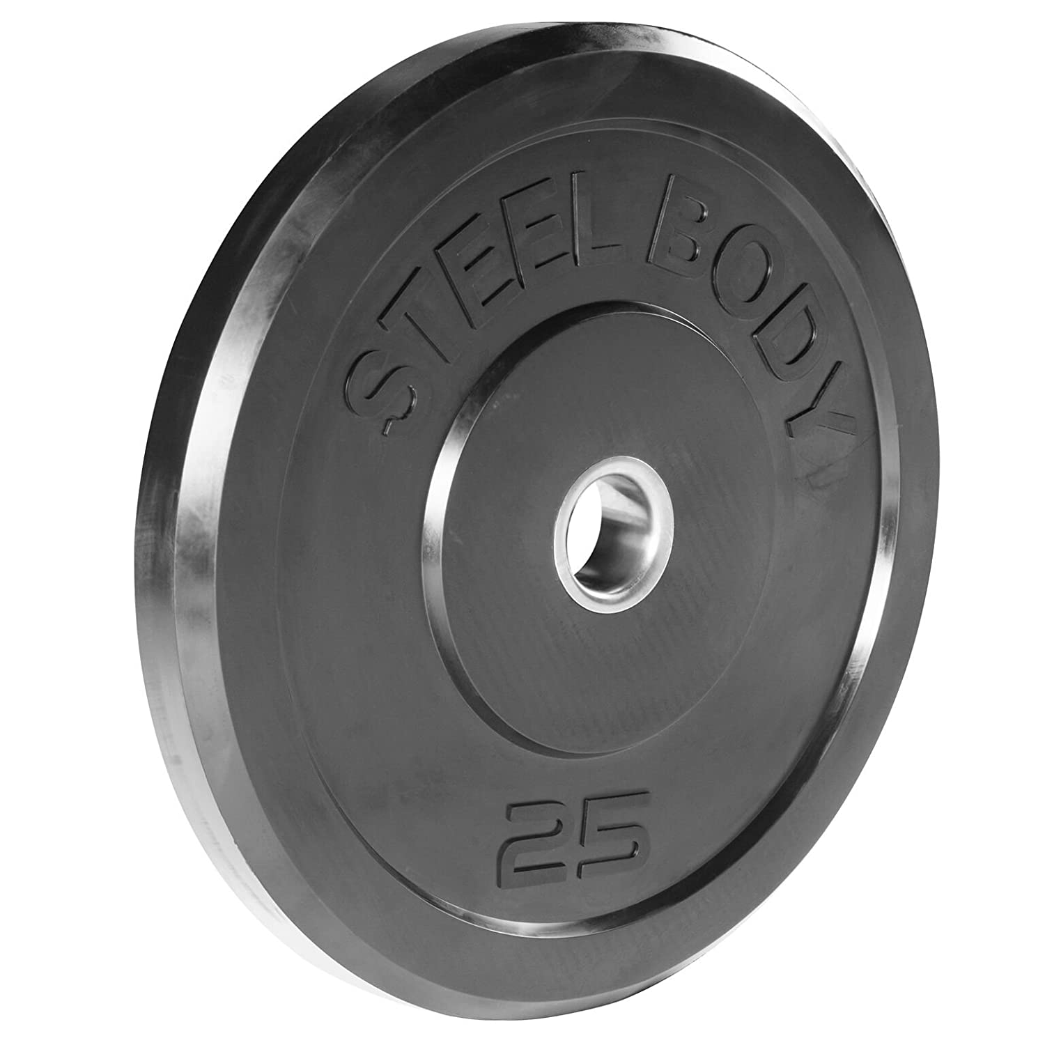Workout Weights 10 lb // 35 lb // 25 lb Steelbody Olympic Rubber Bumper Weight Plate // 45 lb