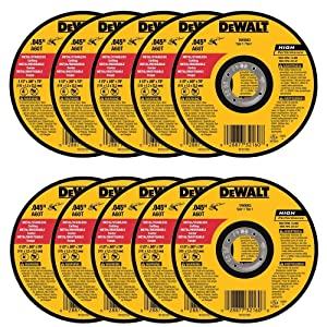 "DEWALT DW8062 4-1/2"" x .045 x 7/8"" Metal Cut-Off Wheel (10pk)"
