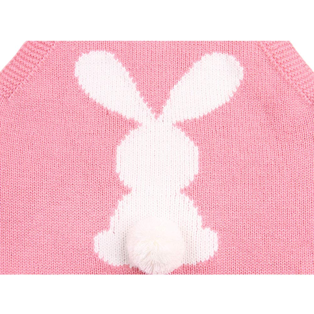 Digirlsor Baby Unisex Knit Romper Toddler Boy Girl Jumpsuit Cute Bunny Sleeveless Outfit Clothes 0-24M