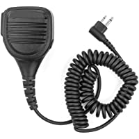 2 Pin Speaker Mic, LANIAKEA Rainproof Professional Heavy Duty Shoulder Remote Speaker Microphone for Kenwood Nexedge, Hytera, Puxing, Wouxun, Baofeng UV5R UV82 BF-UV5R TYT UV5RA HYT 888S 2 Way Radio