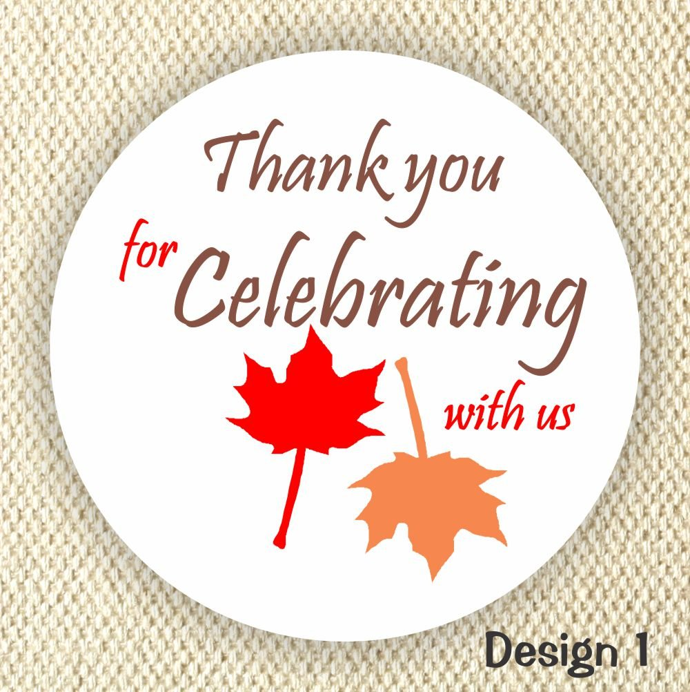 Amazon com thank you wedding stickers wedding stickers anniversary stickers maple leafs fall party labels handmade