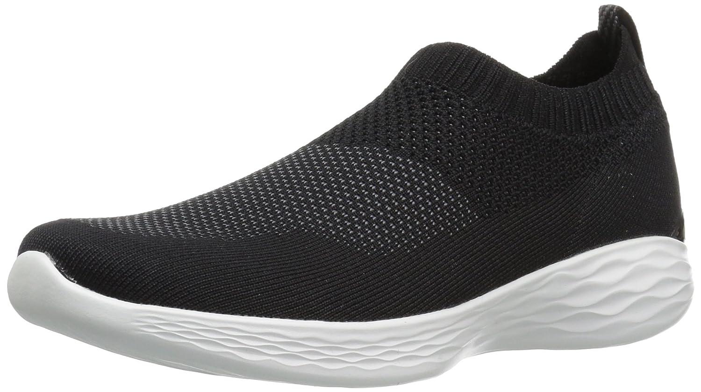Skechers Women's You-14968 Sneaker B071GMLS52 9.5 B(M) US Black/White
