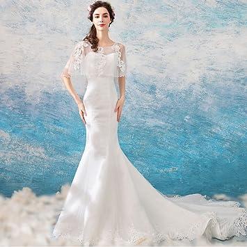 Vestidos De Novia De Princesa Dream Bride Chal De Lujo Slim Tailing Vestidos De Fiesta De