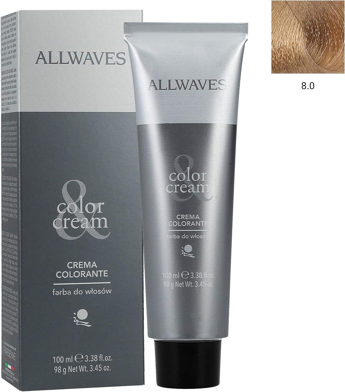 ALLWAVES Professionnelle Cream Color 8.0 Light Blond - Tinte ...