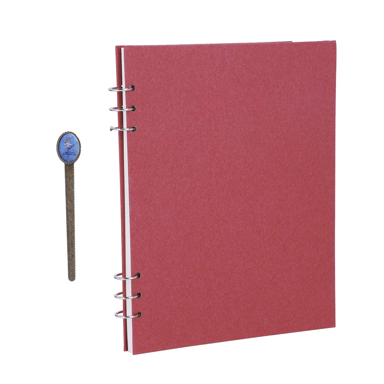 Wirebound A4 Travel Journal Notebook 60 Sheets Side Spiral Blank Sketchbook Unlined Scrapbook Personal Planner Agenda Organizer,Dream Goal ...