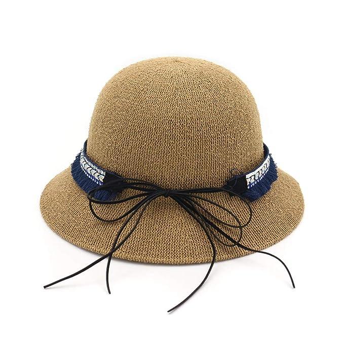 LYF Donne Autunno Cappello Paglia Protezione Solare Selvaggio Cappello Da  Pescatore Donna Arco Tinta Unita Taglia Unica Berretto 5046916a816a