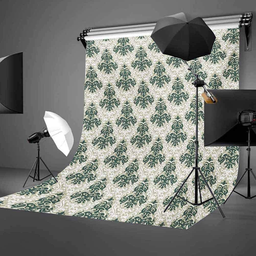 Floral Ornamental Western Traditional Artwork Foliage Timeless Fashion Background for Photography Kids Adult Photo Booth Video Shoot Vinyl Studio Props Victorian 10x15 FT Photography Backdrop