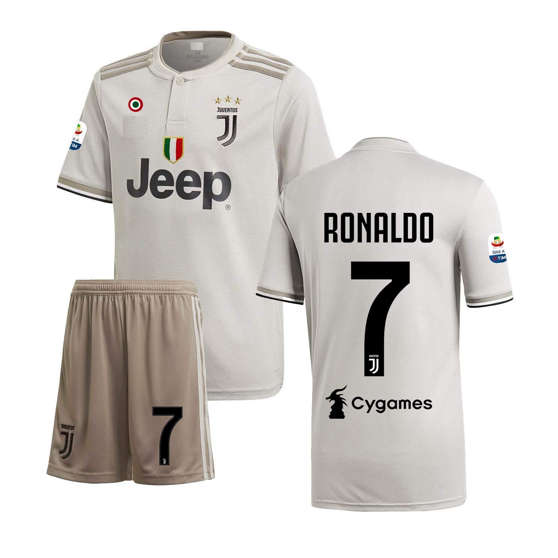 456a1f93b Ronaldo  7 Print Juventus Away Jersey Juventus Half Sleeves Master Quality  Away Football Jersey with Shorts Imported Master Quality with SERIA A Patch  ON ...