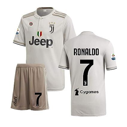 Ronaldo  7 Print Juventus Away Jersey Juventus Half Sleeves Master Quality  Away Football de7ace64d
