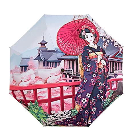 Katoot@ Novelty items cherry blossom flower umbrella rain women Janpanese women printing plegable sombrillas paraguas
