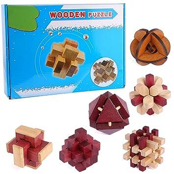 Puzzle Madera Fokom 6 Pack Puzzles 3d Juegos De Ingenio Juegos De