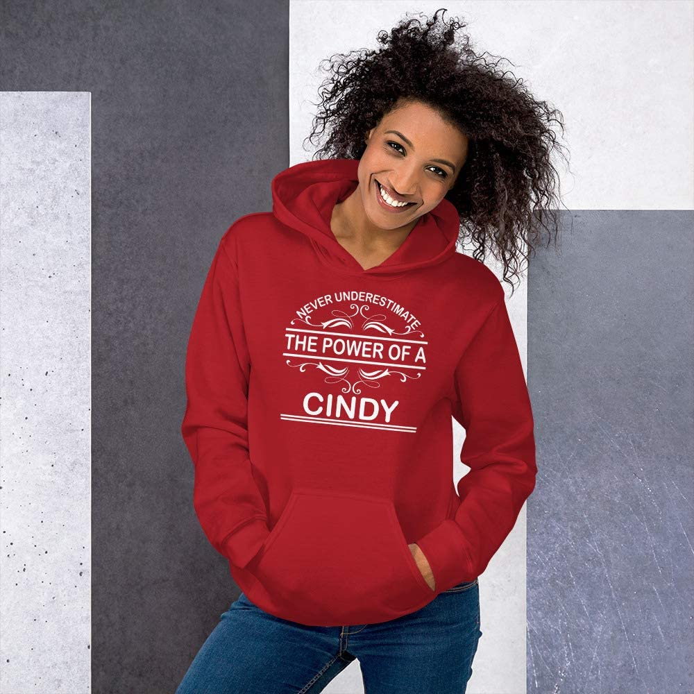 Never Underestimate The Power of Cindy Hoodie Black