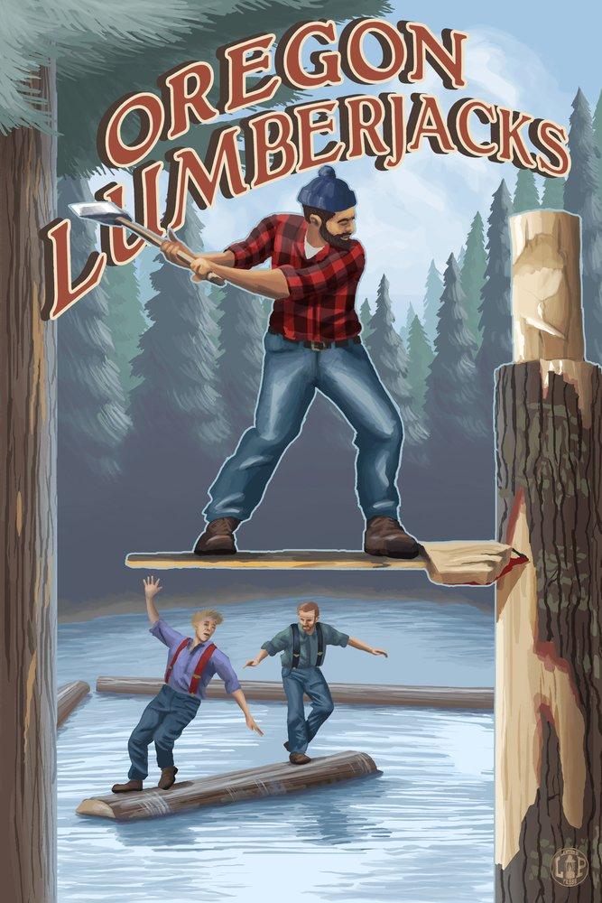 【最安値挑戦】 Oregon Lumberjacks Coffee (9x12 Oregon Art Coffee Print, Wall Decor Travel Poster) by Lantern Press B074RR5XFT 8oz Coffee Bag 8oz Coffee Bag, Craft Mart:8076c23c --- arianechie.dominiotemporario.com