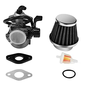 amazon com: quwei atv carburetor pz19 with fuel filter and 35mm air filter  for 50cc 70cc 90cc 110cc 125cc atv dirt pit bike taotao honda crf choke  cable