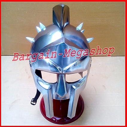 Maximus casco de gladiador romano griego espartano Medieval Armor película réplica Costum