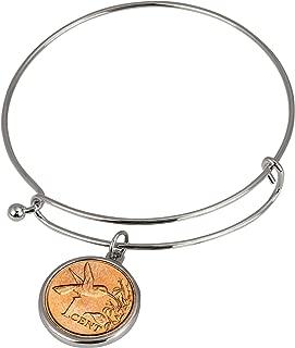 product image for Hummingbird Coin Silver Tone Expandable Slide Bangle Bracelet