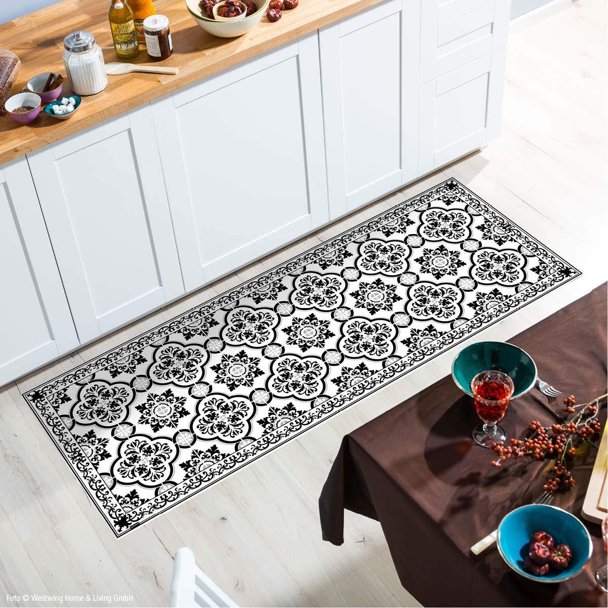 MySPOTTi - Buddy Elena Rutschfeste Bodenschutzmatte aus Vinyl Badematte Küchenläufer Wohnzimmer Deko (180 x 68 cm)