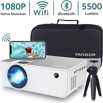 Proyector 1080P HD, proyector WiFi Bluetooth, proyector de ...