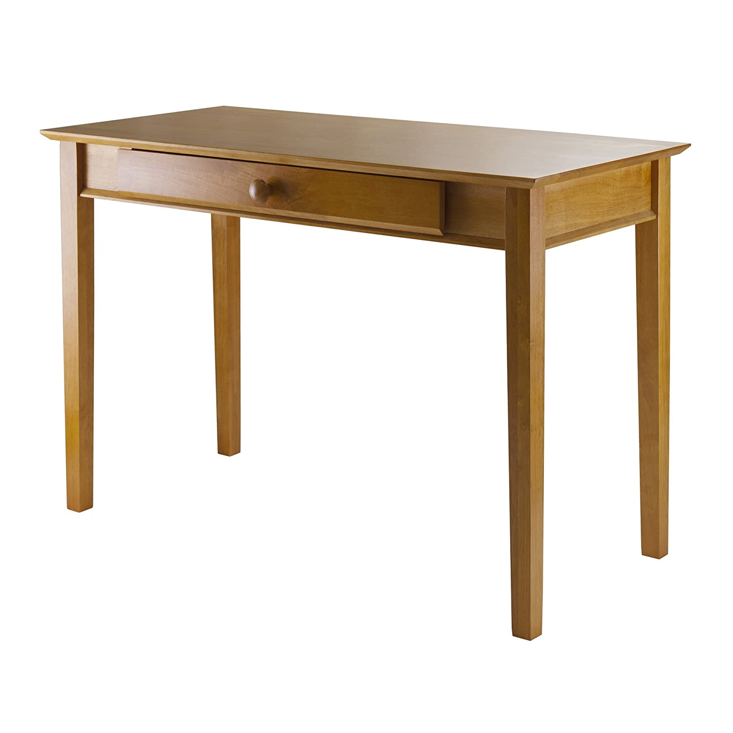 winsome wood computer desk honey amazonca home  kitchen -