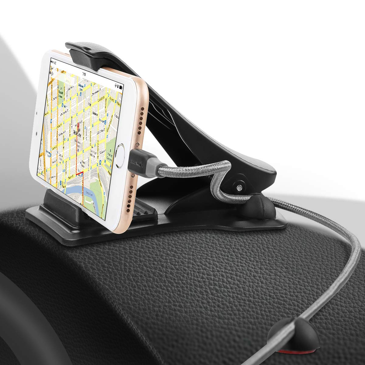 Car Mount, MWAY Car Phone Holder 3M Tapes 3.5-6.5 Inch Phone Stand for Dashboard with 4 Cable Clips,No Blocking for Sight,Durable Cell Phone Holder for iPhone X 8 7/7Plus/6/6S Plus/Samsung Smartphone