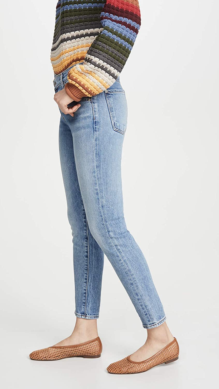 7 For All Mankind Womens Asymmetric Front Skinny Jeans