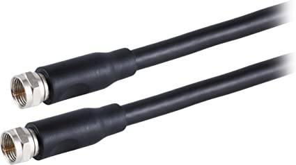 Amazon.com: Philips RG6 Dual Shield Coaxial Cable, 15 ft. Ideal for TV  Antenna DVR VCR Satellite Cable, F-Type Connectors, 3Ghz Digital, Black,  SWX9245A/27: ElectronicsAmazon.com