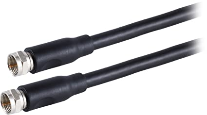 Philips Coaxial Cable, 15ft Coax Cable, RG6, F-Type Connectors, Quad