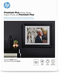 HP Premium Plus Photo Paper | Soft Gloss | 8.5x11 | 50 Sheets