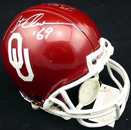 12861d106 Image Unavailable. Image not available for. Color  Steve Owens   Billy Sims Autographed  Oklahoma Sooners Mini Helmet Heisman - Beckett COA