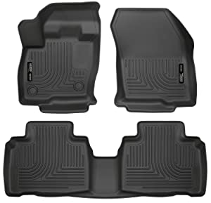Husky Liners 98781 Black Fits 2015-19 Ford Edge Weatherbeater Front & 2nd Seat Floor Liners