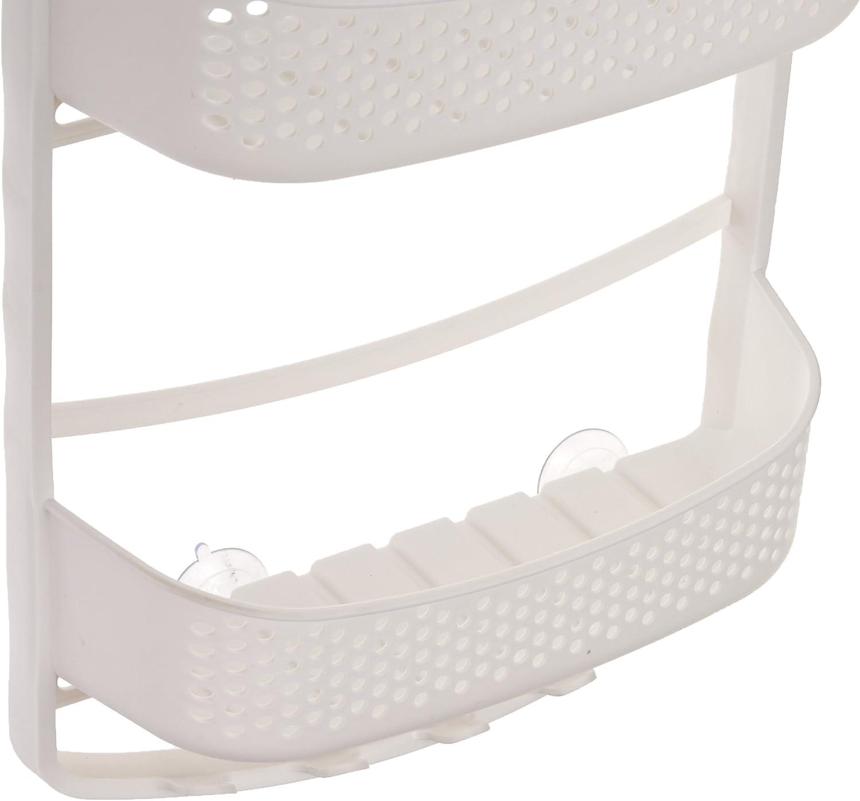 AmazonBasics - Estante de ducha con brazos ajustables, Blanco: Amazon.es: Hogar