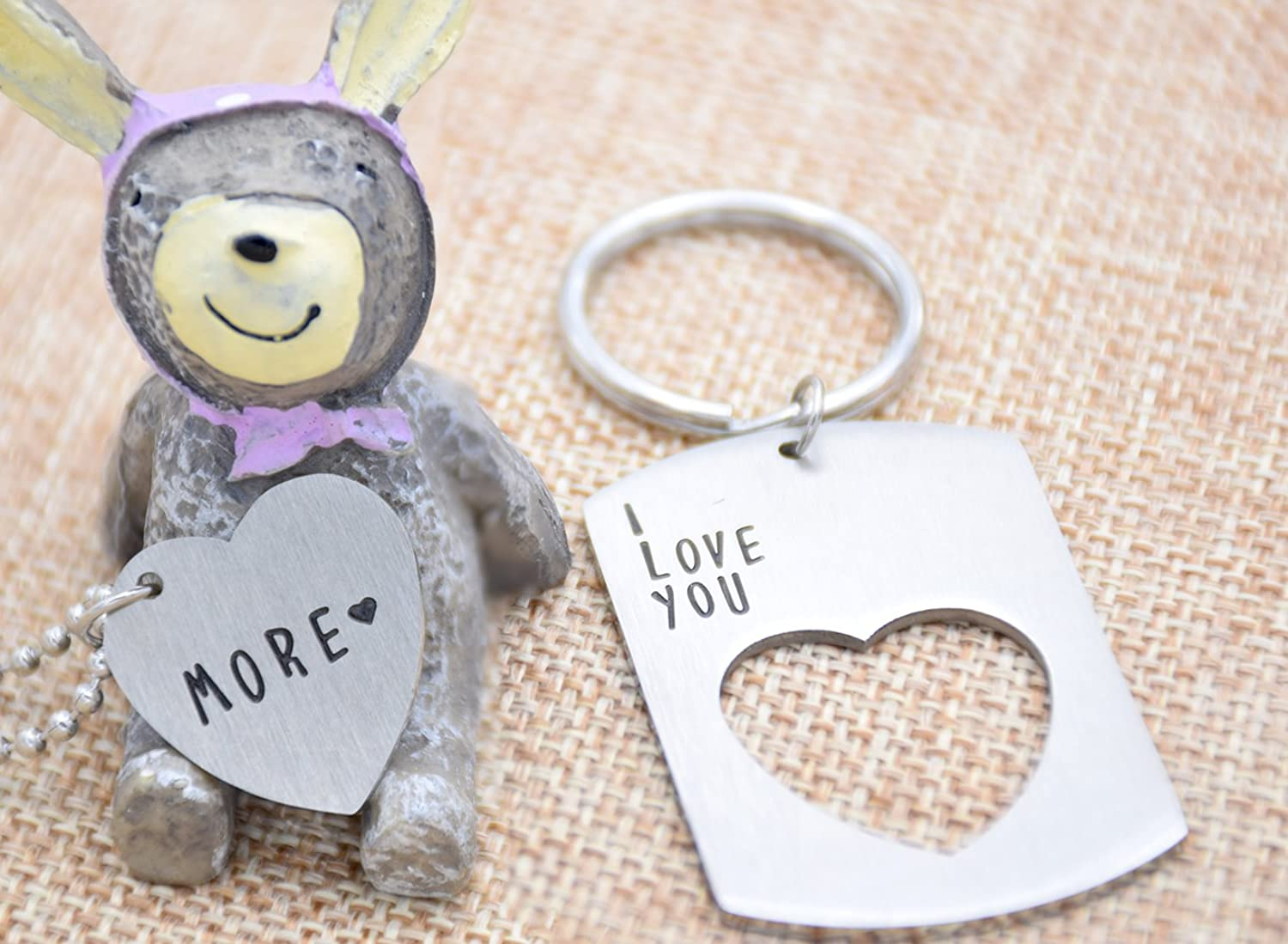 O.RIYA I love you more Keychain Necklace Stainless Steel ...