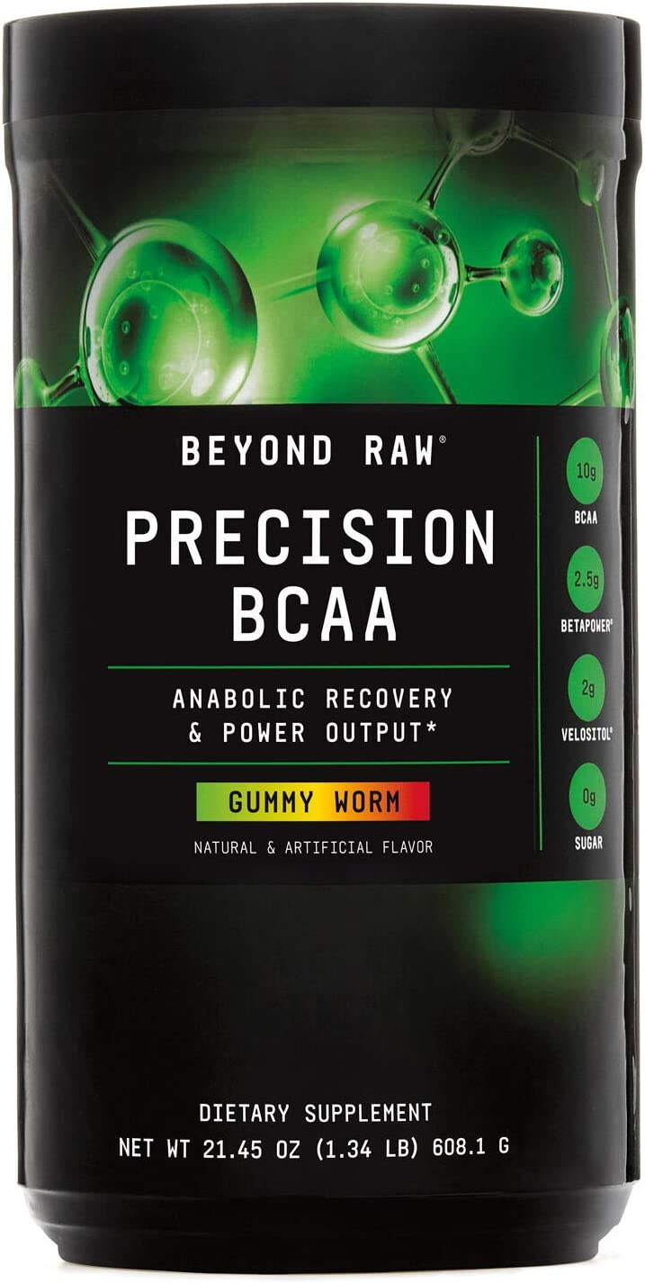 Beyond Raw Precision BCAA – Gummy Worm, 30 Servings, Provides Energy and Supports Muscle Repair