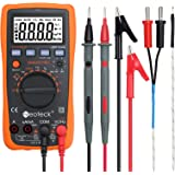 Neoteck Auto Manual Ranging Multimeters 4000 Counts Digital Multimeter AC/DC Volt Current Resistance Multitester with Capacitance and Temperature Measurement for School Factory and other Social Fields