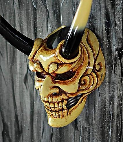 Amazon.com: tripple_777 Devil Samurai - Máscara de airsoft ...