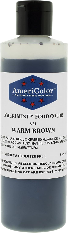 AMERICOLOR Cake Colors 631 AmeriMist WARM BROWN 9 Ounce Airbrush Foo